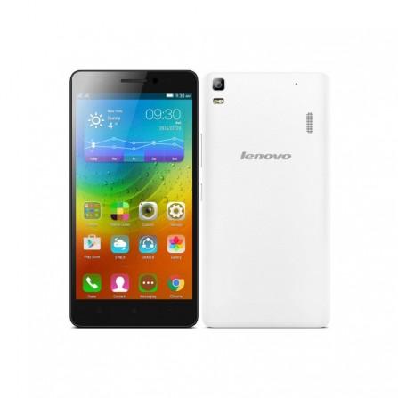 Téléphone Portable Lenovo A7000 / Blanc + Puce Data + Film + Coque
