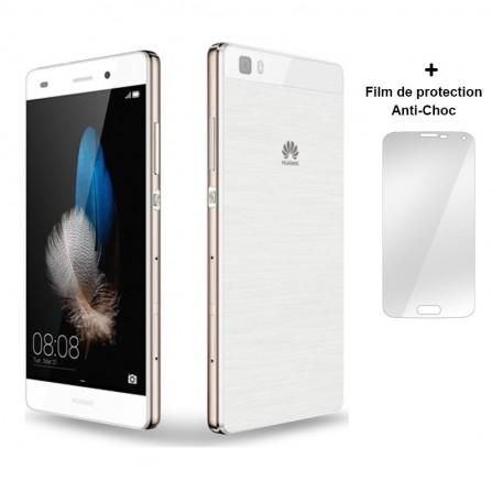 Téléphone Portable Huawei P8 Lite / Blanc + Film de protection Anti-Choc