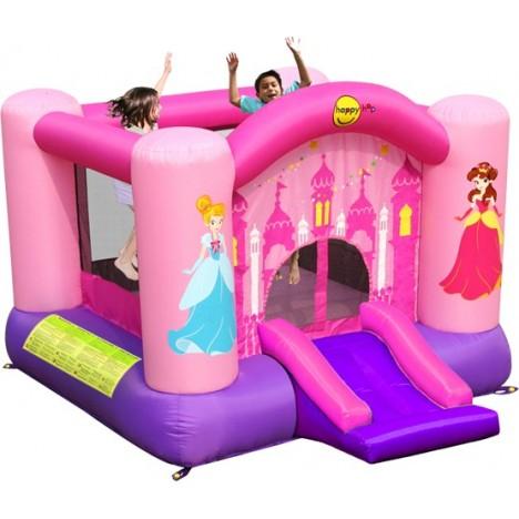 Château HAPPY HOP  Aire De Jeux Gonflable Princesses Rose Fille