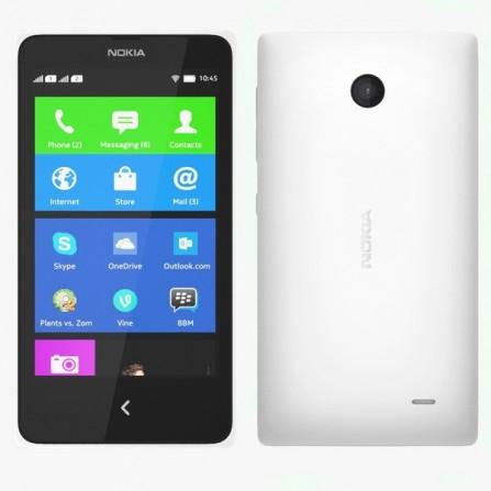 Téléphone Portable Nokia X / Double SIM Blanc