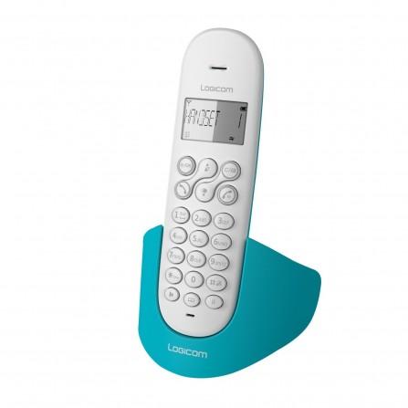 Téléphone Fixe Logicom Aura 150 Solo Sans Fil / Turquoise