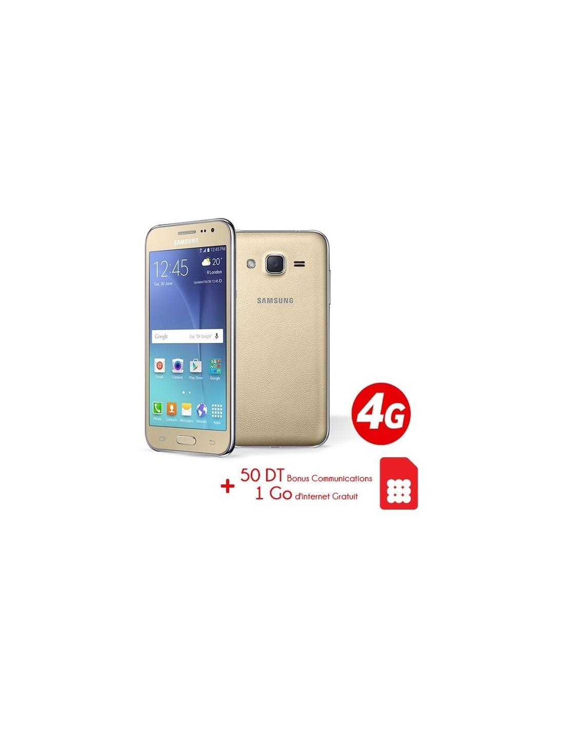 Telephone Portable Samsung Galaxy J2 4G Gold Puce Ooredoo