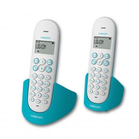 Téléphone Fixe Logicom Aura 250 Duo Sans Fil / Turquoise