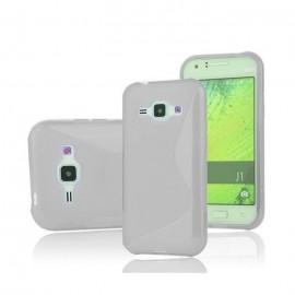 Coque en Silicone Pour Samsung Galaxy J1 Ace / Silver