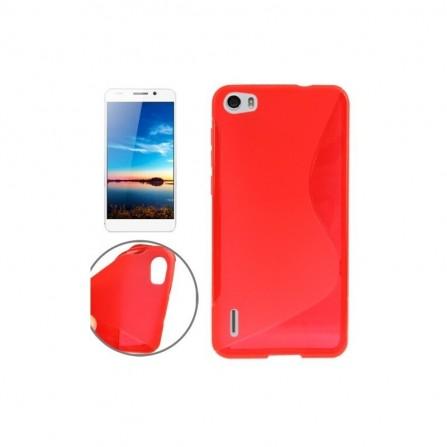 Coque en Silicone pour Huawei Y6 / Rouge