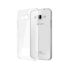 Coque en Silicone Pour Samsung Galaxy J1 / Transparent