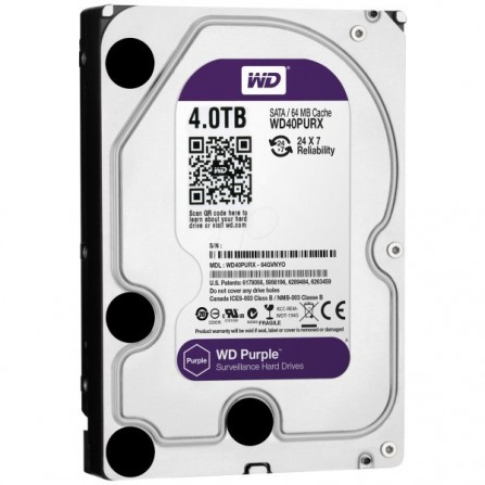 "Disque Dur Interne 3.5"" Western Digital Purple 4 To WD40PURX"