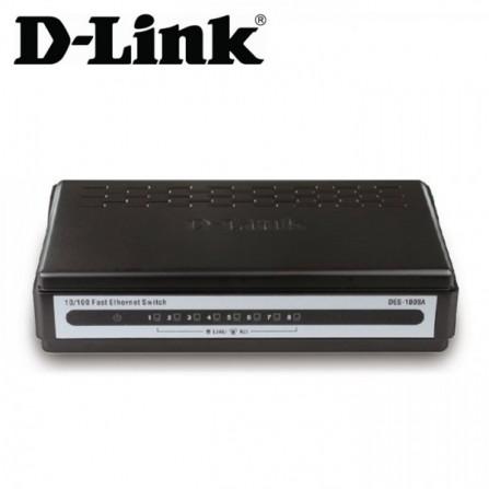 Switch D-Link 8 ports 10/100Mbps DES-1008A