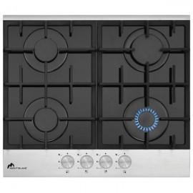Plaque de cuisson MontBlanc 60cm- Vitrée Inox Brosse (PDS60/4)