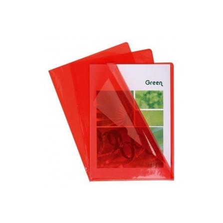 10x Pochettes Coin PVC 13X100E A4 Rouge 660575