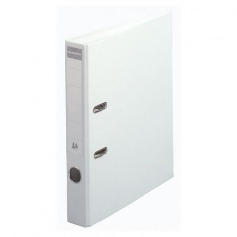 Classeur à levier PVC A4 dos de 50mm / Blanc