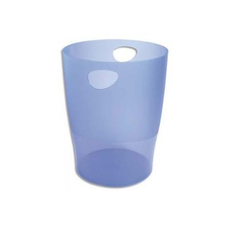 Corbeille à papier EXACOMPTA 15L Bleu Transparent 45310D