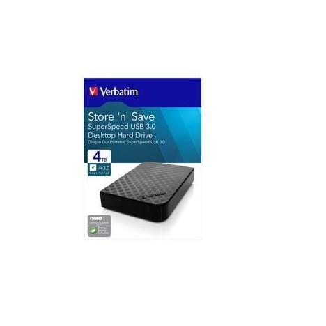 "Disque Dur Externe Verbatim Store 'n' Save 2.5"" USB 3.0 / 4 To"