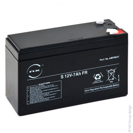 Batterie plomb AGM S 12V-7Ah FR T1 (AMP9037)