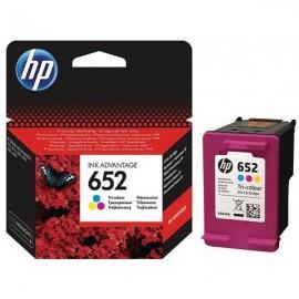 Cartouche jet d'encre HP original F6V24AE pour HP 652 -Couleurs