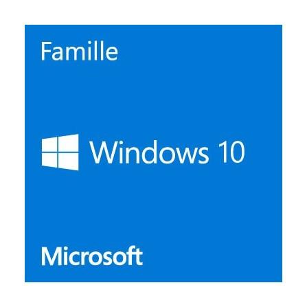 Microsoft Windows 10 Famille 64 bits OEM Français