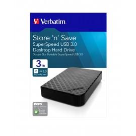 "Disque Dur Externe Verbatim Store 'n' Save 3.5"" USB 3.0 / 3 To"