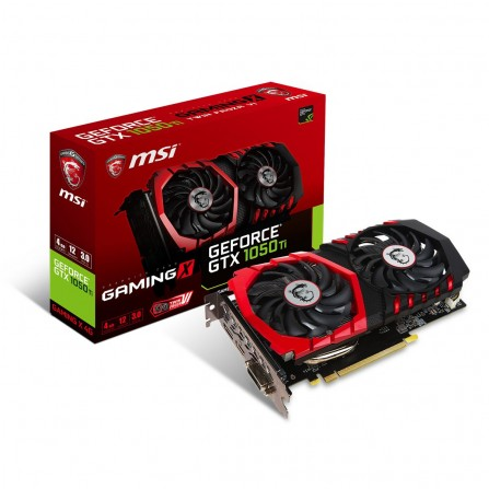 Carte Graphique MSI Nvidia GeForce GTX 1050 Ti GAMING X 4 Go DDR5/OC