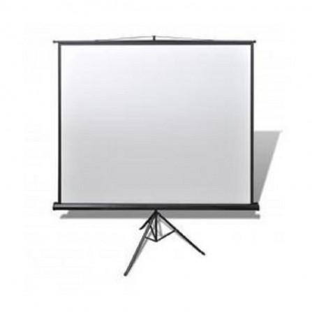 Ecran de projection mobile tripied 199x199cm - Blanc (ETPR2020R)