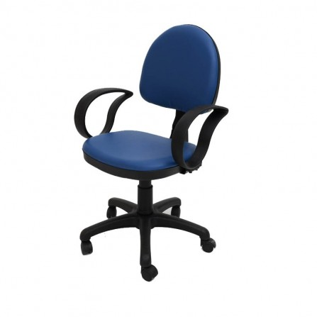 Chaise ERGO plus avec accoudoirs / Bleu