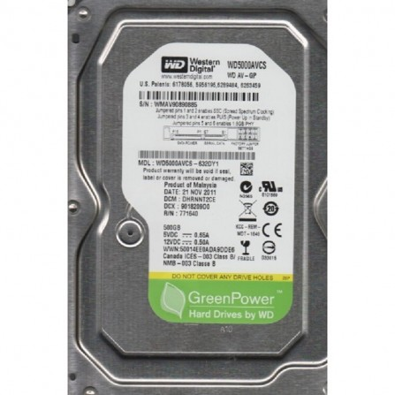 "Disque Dur interne 3.5"" Western Digital 500Go"