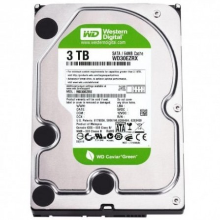 "Disque Dur Interne 3.5"" Western Digital Green 3 To"