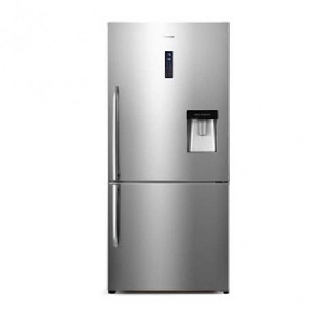 Réfrigérateur HISENSE Combiné / avec Afficheur et Fontaine / No Frost / 600L / Inox / RD60WCB