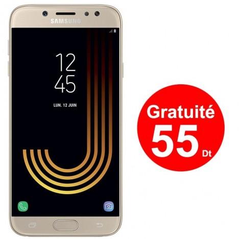 Téléphone Portable Samsung Galaxy J7 Pro / 4G / Gold + 1 Mois IPTV Offert + Gratuite 55 DT