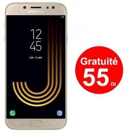 Téléphone Portable Samsung Galaxy J7 Pro / 4G / Gold + 3 Mois IPTV Offert