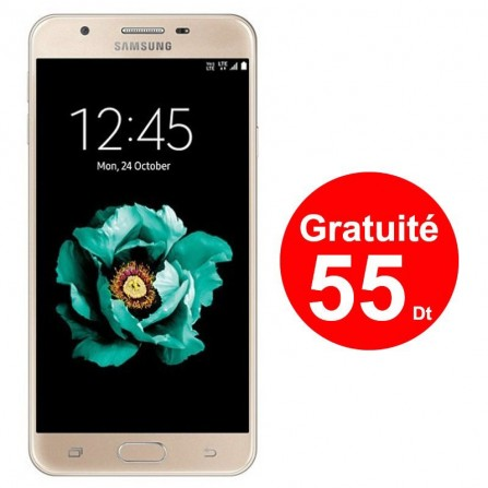 Téléphone Portable Samsung Galaxy J5 Prime / 4G / Gold + 3 Mois IPTV
