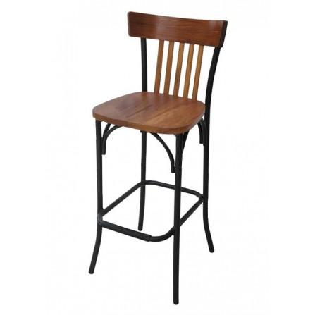 Chaise bistro antique haute avec kit en bois LUX-1697