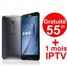 Téléphone Portable Asus ZenFone Go / 4G / Silver + 1 Mois IPTV