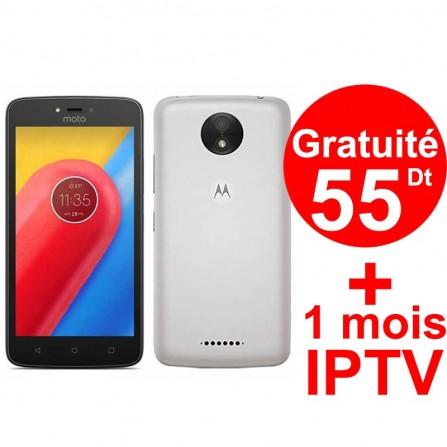 Smartphone Motorola Moto C / 4G / Blanc + 1 Mois IPTV