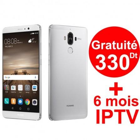 Téléphone Portable Huawei Mate 9 / 4G / Silver + 1 Mois IPTV Offert
