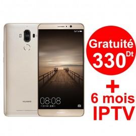 Téléphone Portable Huawei Mate 9 / 4G / Gold + 1 Mois IPTV Offert