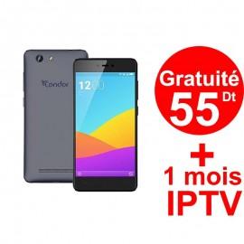 Téléphone Portable Condor Plume P7 Plus / 4G / Bleu