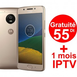 Smartphone Motorola Moto G5 / Double SIM / Gold + 1 Mois IPTV