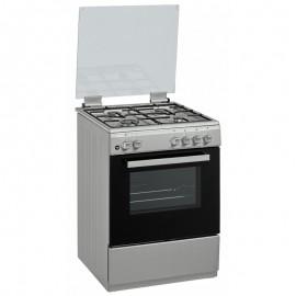 Cuisinière avec tourne broche Klass 4 feux  50 x 60cm -  Inox (CUIS.TG5640I)