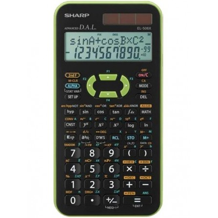 Calculatrice Scientifique Sharp EL-506X / Vert