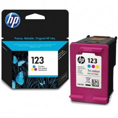 Cartouche jet d'encre HP original F6V16AE pour HP 123 -Couleurs