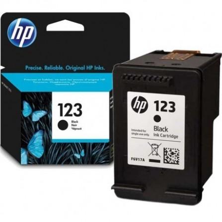 Cartouche jet d'encre HP original F6V17AE pour HP 123 - Noir