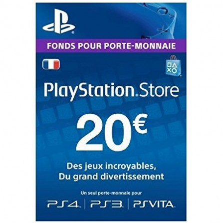 Carte PlayStation Store PS4 - 20 Euro