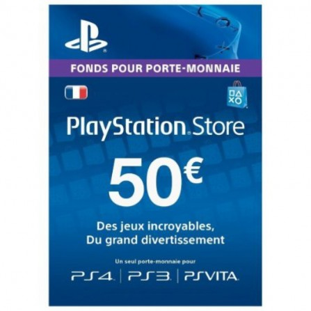 Carte PlayStation Store PS4 - 50 Euro