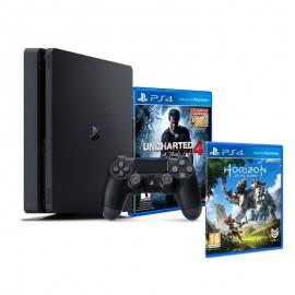 Sony PlayStation 4 Slim / 500 Go + Uncharted 4 + Horizon Zero Dawn