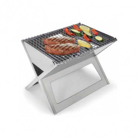 BARBECUE PLIABLE ET PORTABLE SWISS COOK INOX BBQ-698