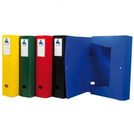 Boite De Classement à Pression PVC OfficePlast DOS 80MM / Bleu