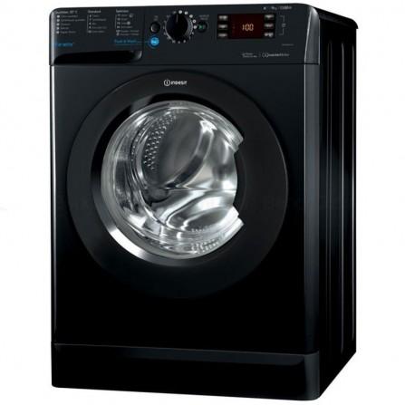 Machine à laver frontale Indesit 9Kg - Noir (BWE91283X-K-FR)