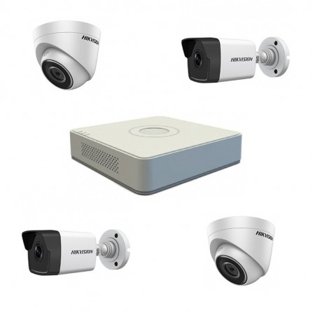 Pack Vidéo Surveillance Hikvision 2 MP NVR+ 2 Caméra IP Interne 2MP+ 2 Camera IP Externe 2MP