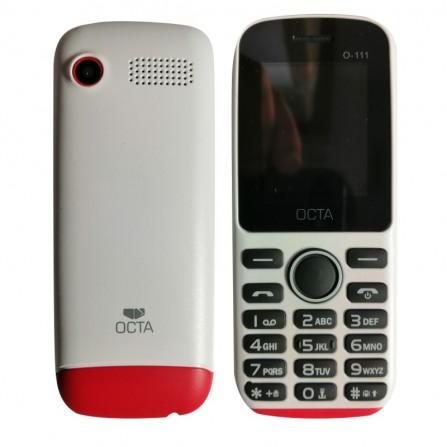 Téléphone portable Octa O-111 double SIM Blanc / Rouge