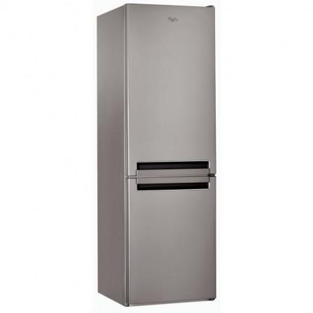 Réfrigérateur combiné Whirlpool DeFrost 360L - Inox (BLF8121OX)